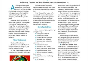 C&A Marketing 101 - Featured in IAEM Bulletin