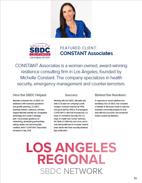 Screenshot of feature article of Constant Associates - Michelle Constant headshot